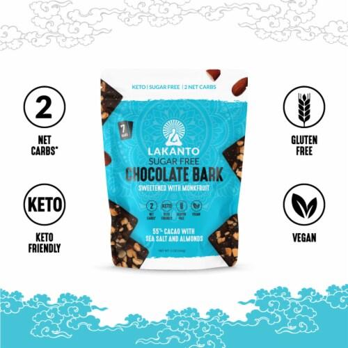 Lakanto Sugar Free Chocolate Bark - Sea Salt and Almonds, Sweetened with Monkfruit (5 Oz) Perspective: bottom