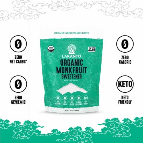 Lakanto Organic Monkfruit Sweetener - 1:1 White Sugar Substitute (1 lb) Perspective: bottom