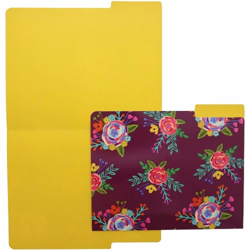 Decorative File Folders with 1/3 Cut Tabs, 6 Vintage Floral Designs (9.5 x 11.5 In, 12 Pack) Perspective: bottom