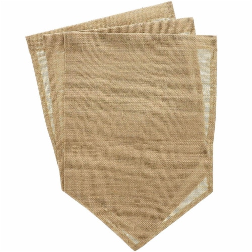 Juvale Blank Burlap Garden Flag (17.7 x 11.8 Inches, 6-Pack) Perspective: bottom