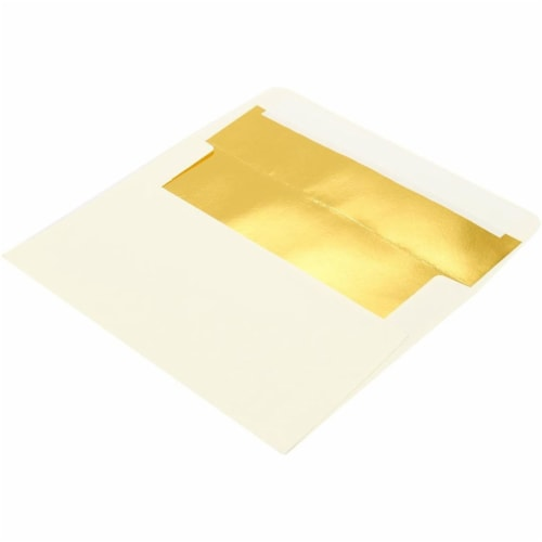 A4 Ivory Invitation Envelopes for Wedding, Birthday, Graduation (6x4 In, 50 Pack) Perspective: bottom