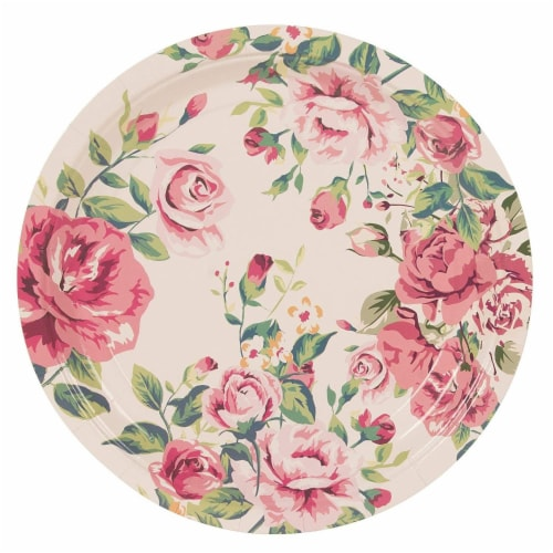Floral Party Supplies, Paper Plates, Napkins, Cups and Plastic Cutlery (Serves 24,144 Pieces) Perspective: bottom