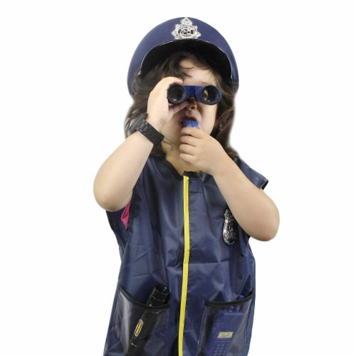 Halloween Costumes for Kids, Police Officer Uniform Costume (13 Pieces) Perspective: bottom