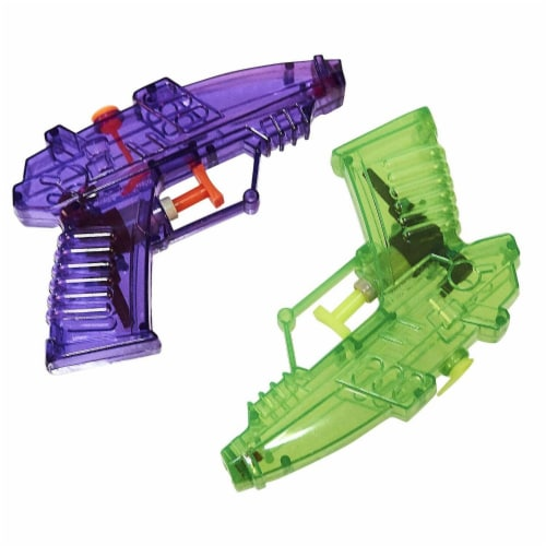 24 Pack Mini Plastic Water Squirt Guns Toys in Assorted Colors, for Kids Party, Ages 3 and Up Perspective: bottom