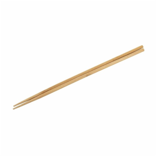 10-Pack Extra Long Cooking Chopsticks, For Cooking, Frying, Natural Bamboo, 16.5 Inches Perspective: bottom