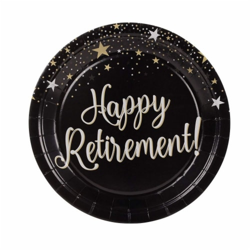 Retirement Party Bundle, Includes Plates, Napkins, Cups, and Cutlery (24 Guests,144 Pieces) Perspective: bottom