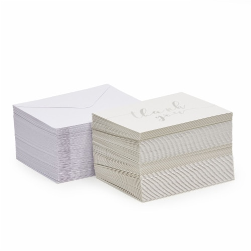 Blank Thank You Cards Bulk with Envelopes for Wedding Shower (3.75x5 In, 120 Pack) Perspective: bottom