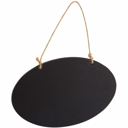 Hanging Reusable Oval Chalkboard Signs for Party and Decoration (8 Pack) Perspective: bottom