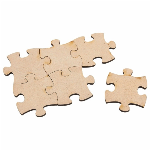 Blank Unfinished Wooden Jigsaw Puzzle (100 Pieces) Perspective: bottom