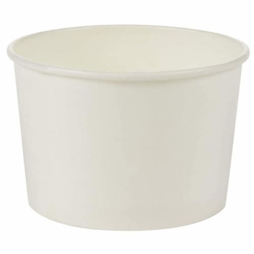 100-Piece White Disposable Ice Cream Sundae Paper Cups Party Supplies, 5-Ounce Perspective: bottom