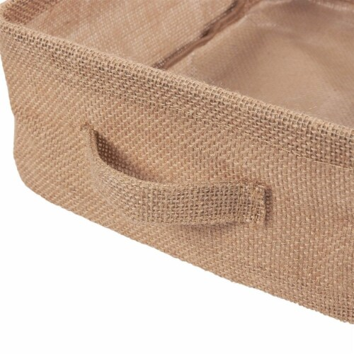 Foldable Storage Bins, Fabric Linen Baskets with Handles (2-Pack) Perspective: bottom