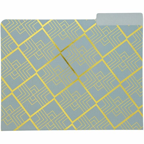 Geometric Decorative File Folders with 1/3 Cut Tab (11.5 x 9.5 In, 12 Pack) Perspective: bottom
