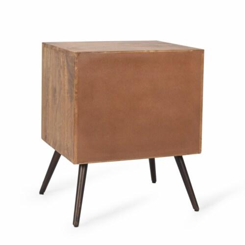 Xaviera Handcrafted Boho Mango Wood Cabinet Perspective: bottom