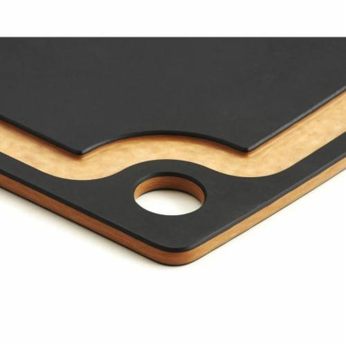 Epicurean 17.5 x 13 in. Gourmet Cutting Board, Slate & Natural Perspective: bottom