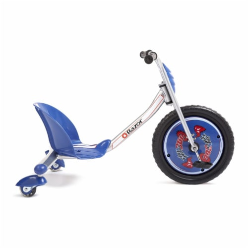 Razor Rip Rider 360 Drifting Ride On Big Wheel Tricycle, Kids Ages 5 & Up, Blue Perspective: bottom