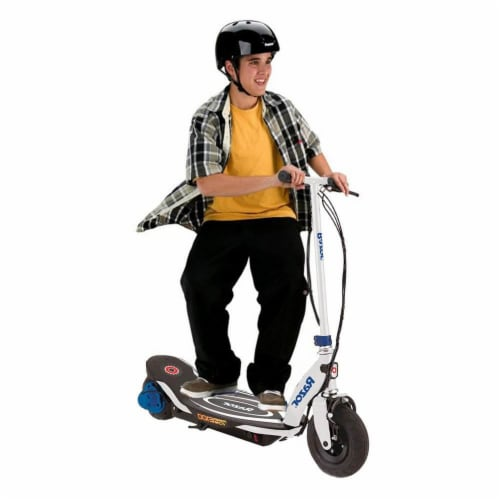 Razor Power Core E100 Kids Ride On Motorized Electric Powered Scooter Toy, Blue Perspective: bottom