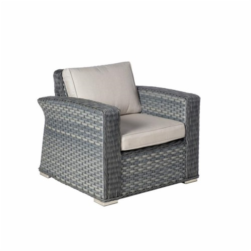Alfresco Home Palisades 4-piece Resin Wicker Seating Group in Java Brown Perspective: bottom