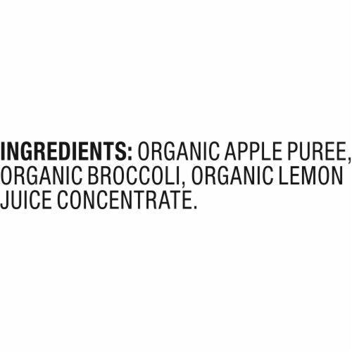 Plum Organics Apple & Broccoli Stage 2 Baby Food Pouch Perspective: bottom