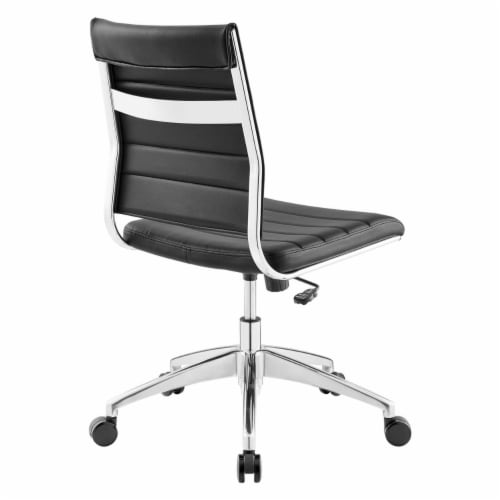 Black Jive Armless Mid Back Office Chair Perspective: bottom
