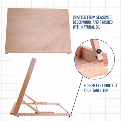 X-Large 25-5/8  Wide x 19  Tall (A2) Artist Adjustable Wood Drawing Sketching Board Perspective: bottom