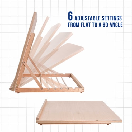 Extra Large Adjustable Wood Artist Drawing & Sketching Board 26  Wide x 21  Tall Perspective: bottom
