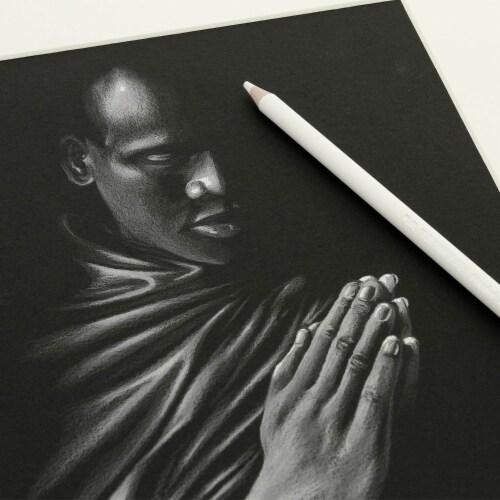 20 Piece Artist Sketch Set with Storage Case - Sketch & Charcoal Pencils, Pastel, & Stumps Perspective: bottom