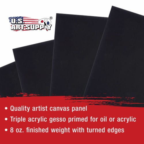 6  X 6  Black Acid Free Canvas Panels 6-Pack (1 Full Case of 6 Single Canvas Panels) Perspective: bottom