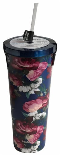 Manna Chilly Tumbler - Blue Flowers Perspective: bottom