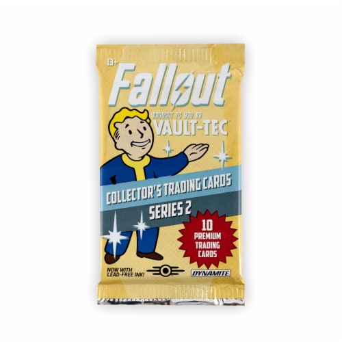 Fallout Trading Cards Series 2 | Sealed Blister Pack | Contains 10 Random Cards Perspective: bottom