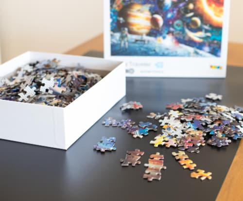 Space Traveler Space Puzzle 1000 Piece Jigsaw Puzzle | Jigsaw Puzzles For Adults Perspective: bottom