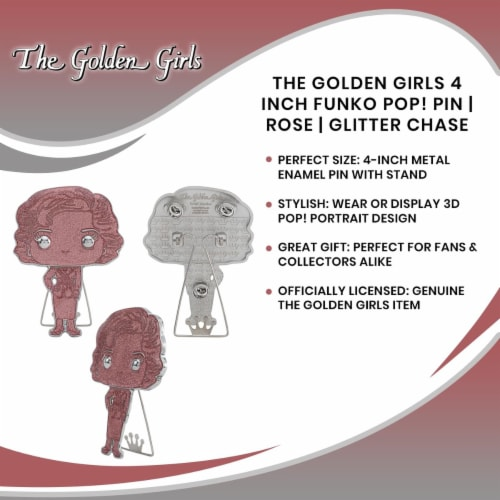 The Golden Girls 4 Inch Funko POP! Pin | Rose | Glitter Chase Perspective: bottom