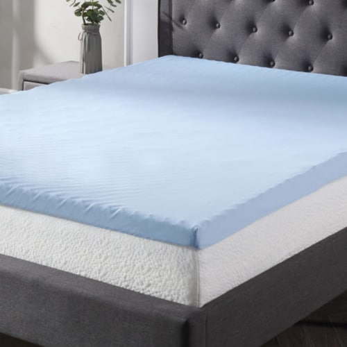Classic Brands Cool Cloud 3 Inch Memory Foam Mattress Topper with Cover, King Perspective: bottom