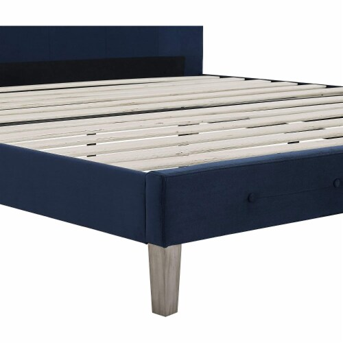 Classic Brands Seattle Modern Tufted Platform Bed Frame, Full, Antonio Sapphire Perspective: bottom
