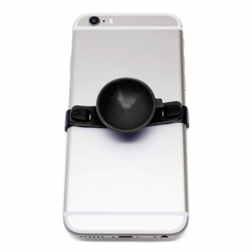 SUC-IT Thermal Silicone Suction Cup Phone Holder Stand - Black with Black Clips Perspective: bottom