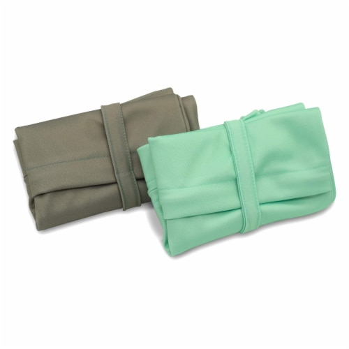 Cloth Diaper Wet Dry Bags with Two Zippered Pockets, Waterproof & Reusable Perspective: bottom