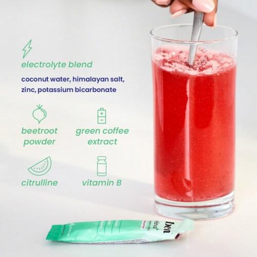 Beam Organics, Elevate Hydration Performance, Watermelon, 15 Single Serve Powder Packets Perspective: bottom