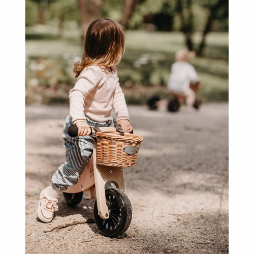 Kinderfeets Tiny Tot PLUS Toddler 2-in-1 Balance Bike and Tricycle, Rose Perspective: bottom