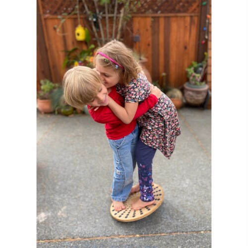 Kinderfeets 3631 Bamboo Balance Board Disk for Toddlers, Kids, Teens, and Adults Perspective: bottom
