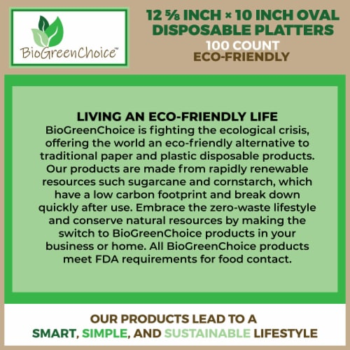 """12 5/8"""" x 10"""" Eco-Friendly Disposable Platter (100 Count) Perspective: bottom"""