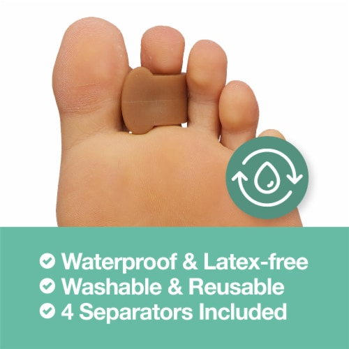 ZenToes Gel Toe Separators - Overlapping Toes, Bunion Corrector and Spacer - 4 Pack (Honey) Perspective: bottom