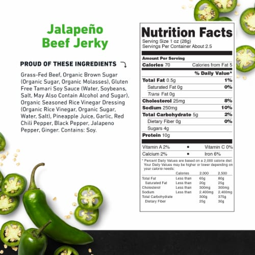 Country Archer™ Sweet Jalapeno Beef Jerky Perspective: bottom