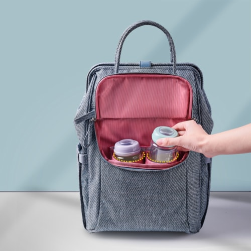 Easy Open Diaper Backpack Perspective: bottom