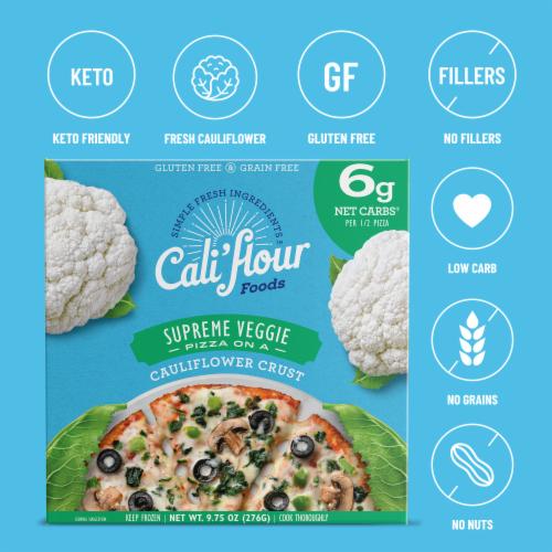 Cali'flour Foods Supreme Veggie Pizza Perspective: bottom
