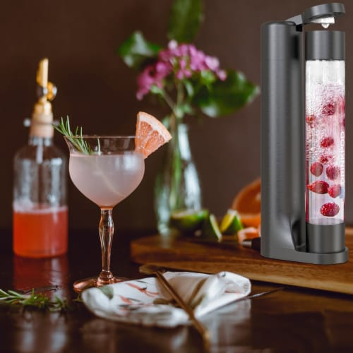 Fizzpod Home Soda Maker with 3 PET Bottles- Directly Carbonates Any Drink Perspective: bottom