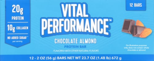 Vital Performance Chocolate Almond Protein Bars Perspective: bottom