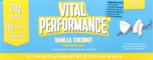 Vital Performance™ Vanilla Coconut Protein Bars Perspective: bottom