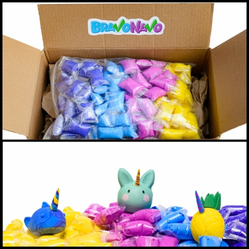 BravoNavo Unicorn Fluff Putty 100 Pack Perspective: bottom