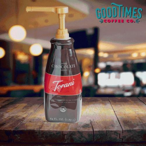 Sauce Pump Dispenser for Torani 64 Ounce Bottles Perspective: bottom