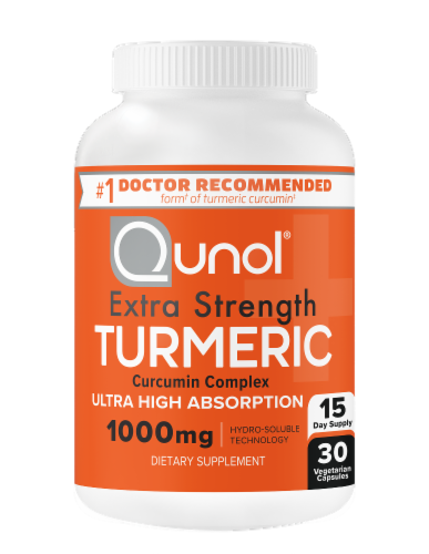 Qunol® Turmeric Ultra High Absorption Vegetarian Capsules 1000mg Perspective: bottom