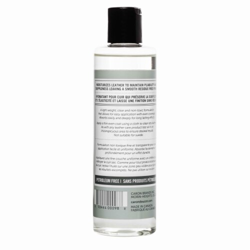 Leather Cleaner & Conditioner Oil 236ml, 100% Natural Perspective: bottom